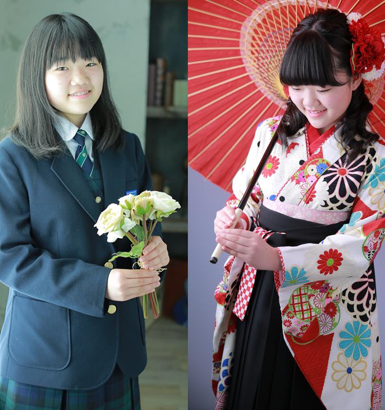 小学校卒業・中学校入学のお祝いを兼ねて撮影できる