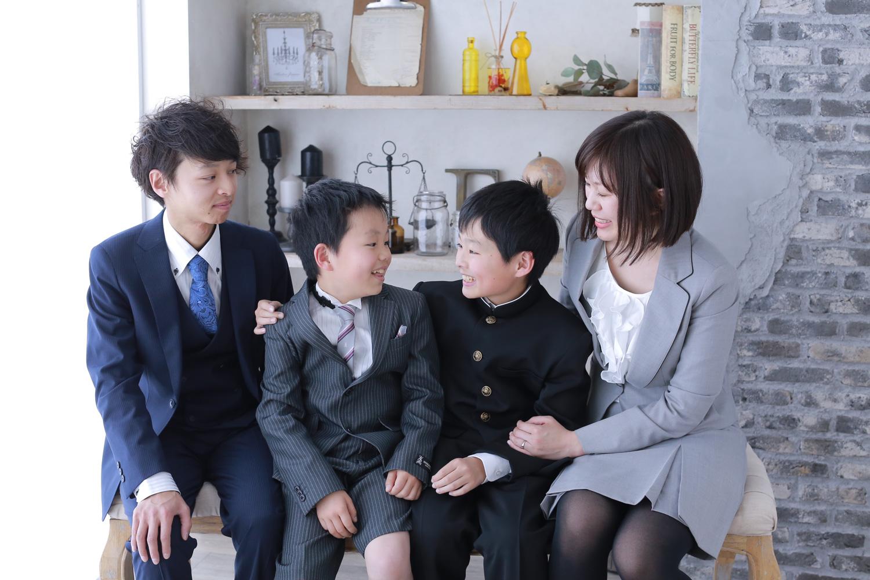 兄弟・家族写真も一緒に撮れる