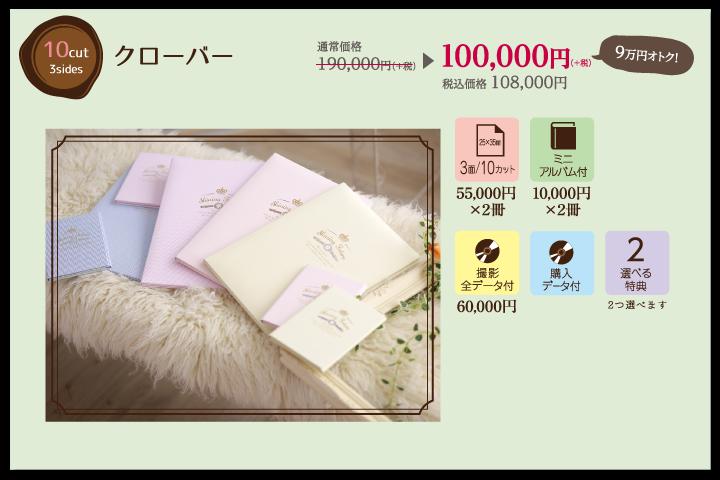 七五三 兄弟・姉妹アルバムセットプラン|クローバー100,000円